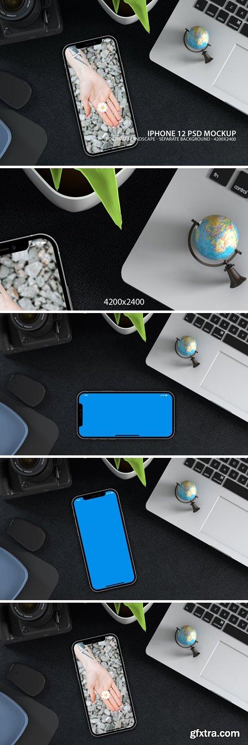 iPhone 12 PSD Mockup