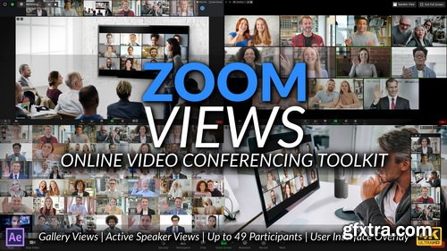 Videohive - Zoom Views: Online Video Conferencing Toolkit - 28972353