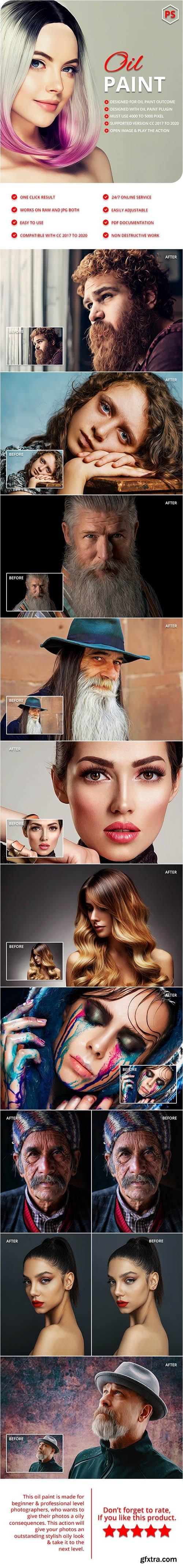 GraphicRiver - Oil Art Photoshop Action 28917188