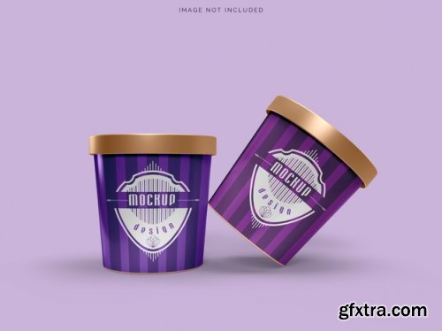 Mockup cup ice cream packaging mockup