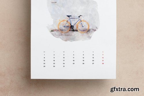 2021 Watercolor Calendar A3