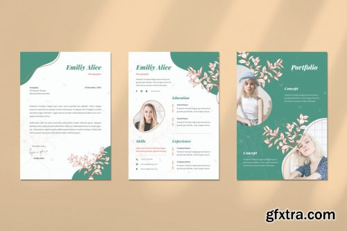 Beauty Woman CV Resume