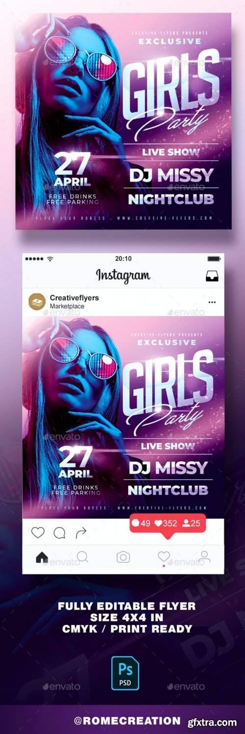 GraphicRiver - Girls Party Nightclub Flyer 28790786