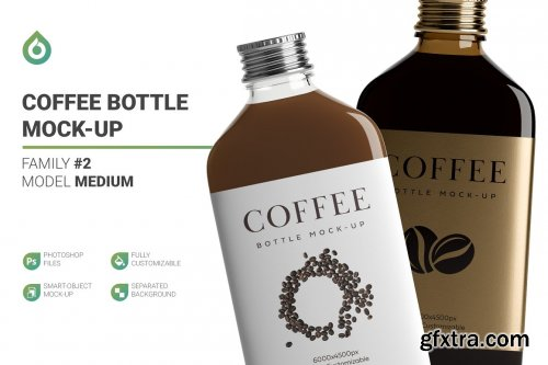CreativeMarket - Coffee Bottle Mockup 4968203