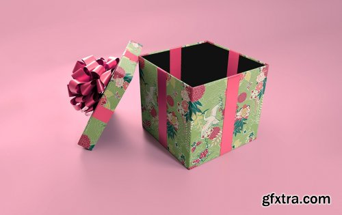 CreativeMarket - Blank Giftbox Mockup 5585795