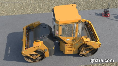 Articulated Tandem Road Roller Dusty