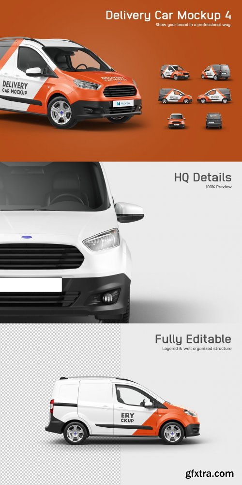 CreativeMarket - Delivery Car Mockup 4 5549704
