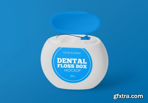 Dental floss box mockup
