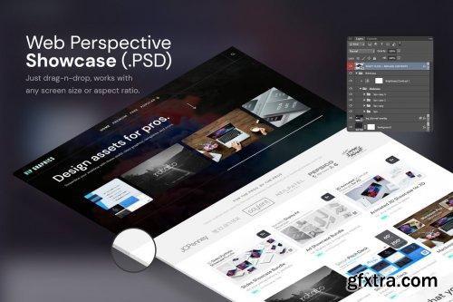 CreativeMarket - Perspective Website Desktop Mockups 5638520