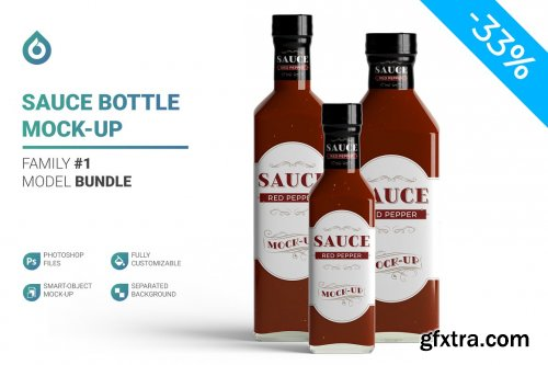 CreativeMarket - Sauce Bottle Mockup 4844082