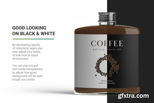 CreativeMarket - Coffee Bottle Mockup 4971163