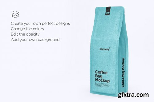 CreativeMarket - Kraft Paper Coffee Bag PSD Mockup 5634563