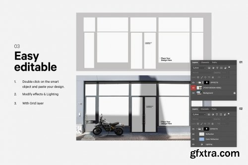 CreativeMarket - Shop Facade Mockup Bundle 5628815