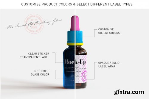 CreativeMarket - Dropper Bottle & Box Mock-Up | Vol.1 5295550