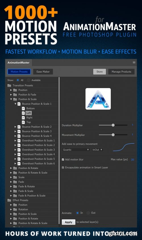 GraphicRiver - 1000 Motion Presets for Animation Master 29302174