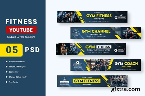 Fitness Channel Youtube Banner Template