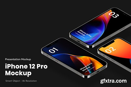 iPhone 12 Pro App Mockup
