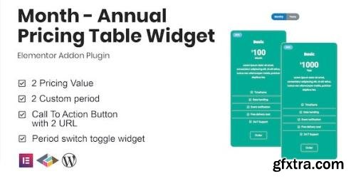 CodeCanyon - Month v1.0.0 - Annual Pricing Table Widget For Elementor - 29574710