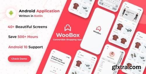 CodeCanyon - WooBox v15.0 - WooCommerce Android App E-commerce Full Mobile App + kotlin - 25092266