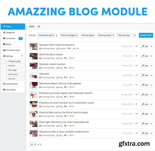 Amazzing blog v1.5.2 - PrestaShop Module