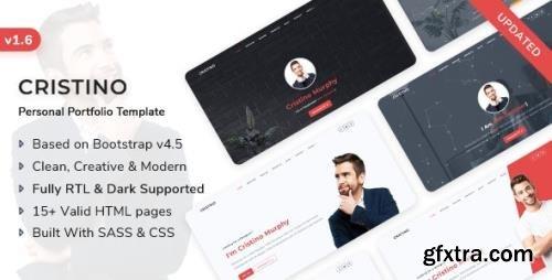 ThemeForest - Cristino v1.6.0 - Personal Portfolio, CV & Resume Template - 24622998