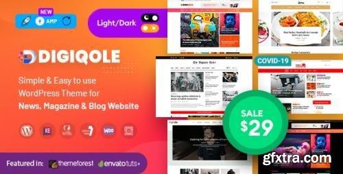 ThemeForest - Digiqole v1.4.9 - News Magazine WordPress Theme - 24304706