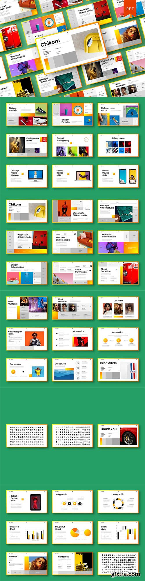 Chikom - Business PowerPoint Template