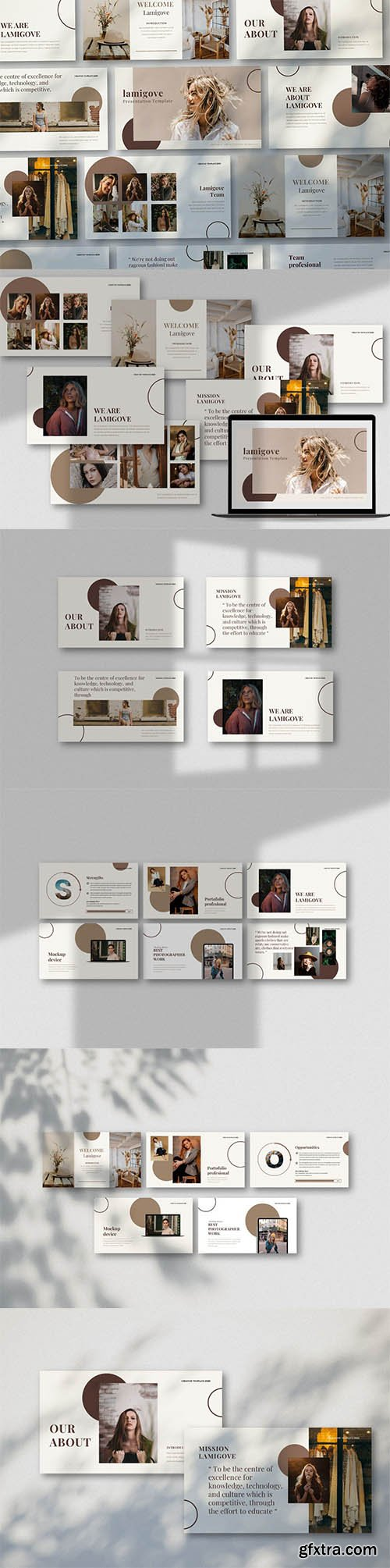 lamigove Creative Powerpoint, Keynote and Google Slides Template