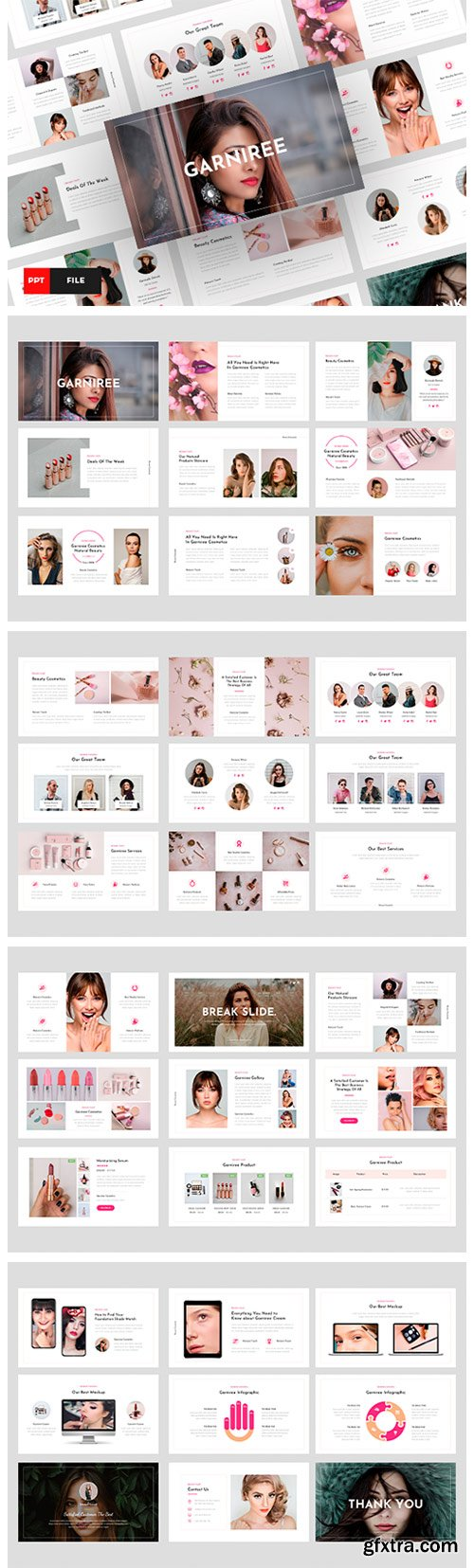 Garniree - Beauty & Cosmetics PowerPoint 6797700