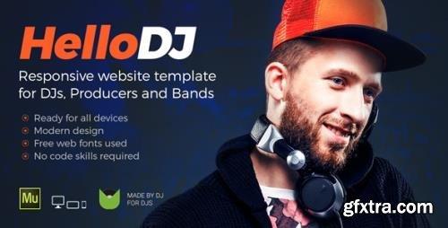ThemeForest - HelloDJ v1.0 - DJ / Producer / Music Band Responsive Muse Template - 20044495