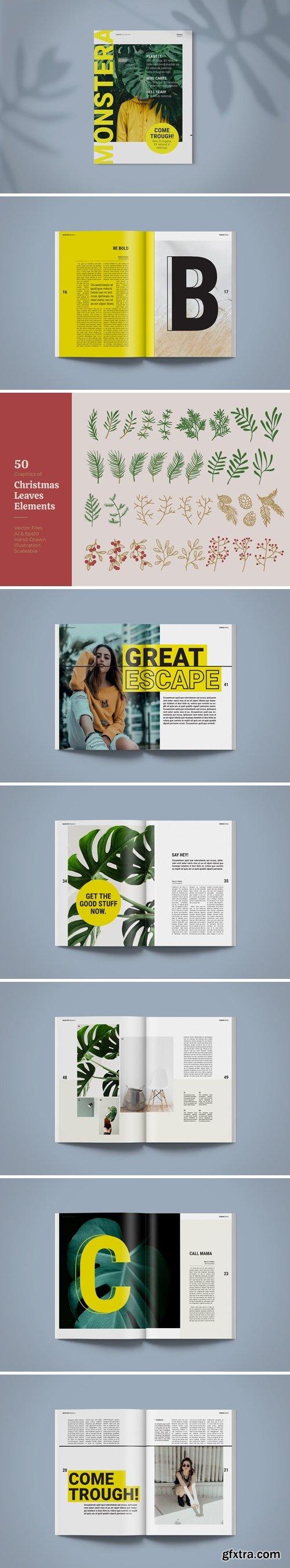 Magazine Template | Monstera