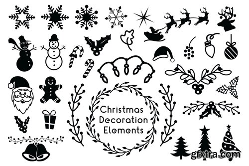 Christmas Decoration Elements - Christmas Cliparts