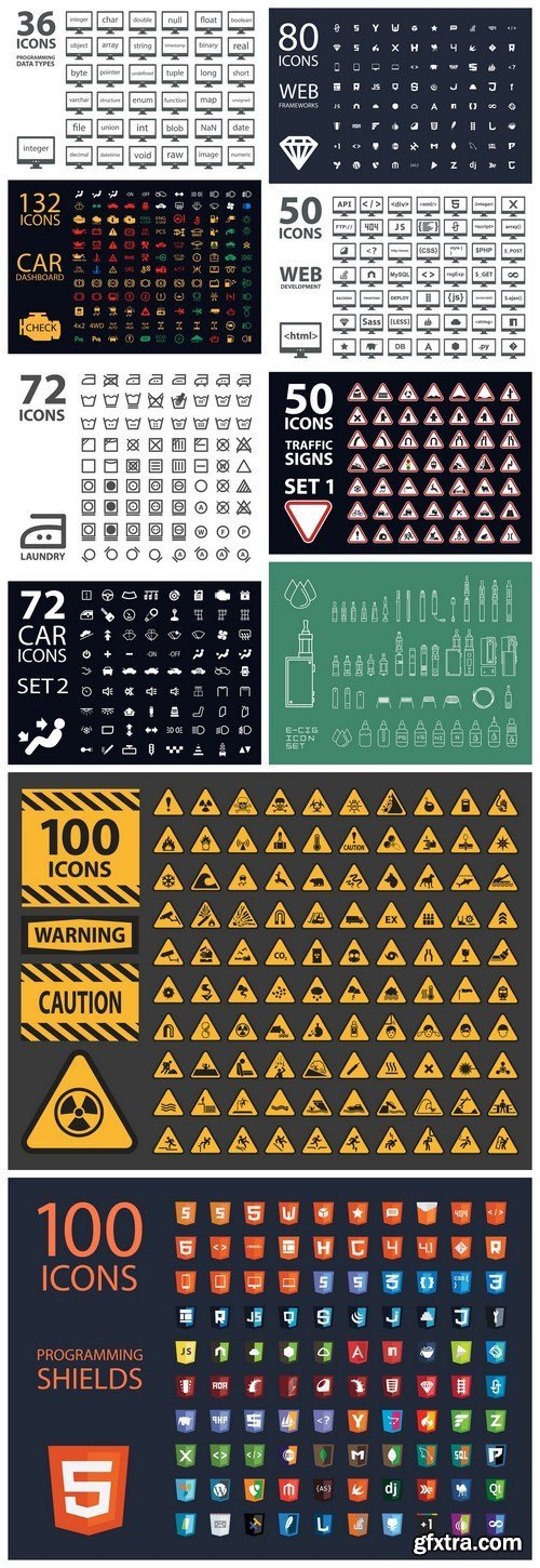 Business and Web  Icons Set - Set of 11xEPS Professional Vector Stock