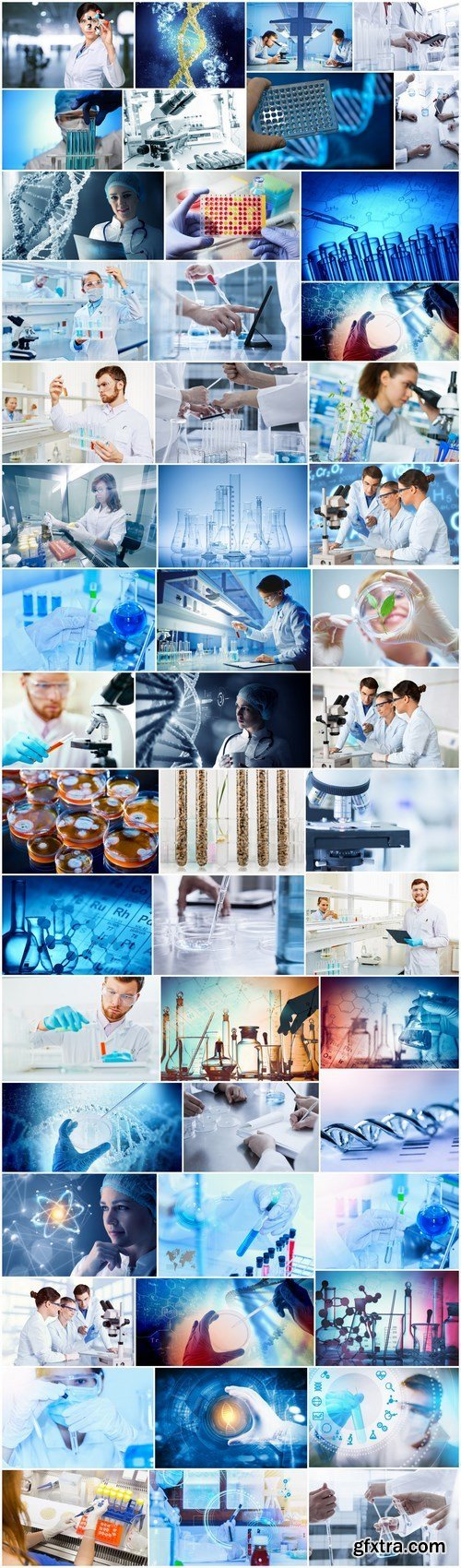 Laboratory, science, experiences and biotechnologies - 50xUHQ JPEG Professional Stock Images