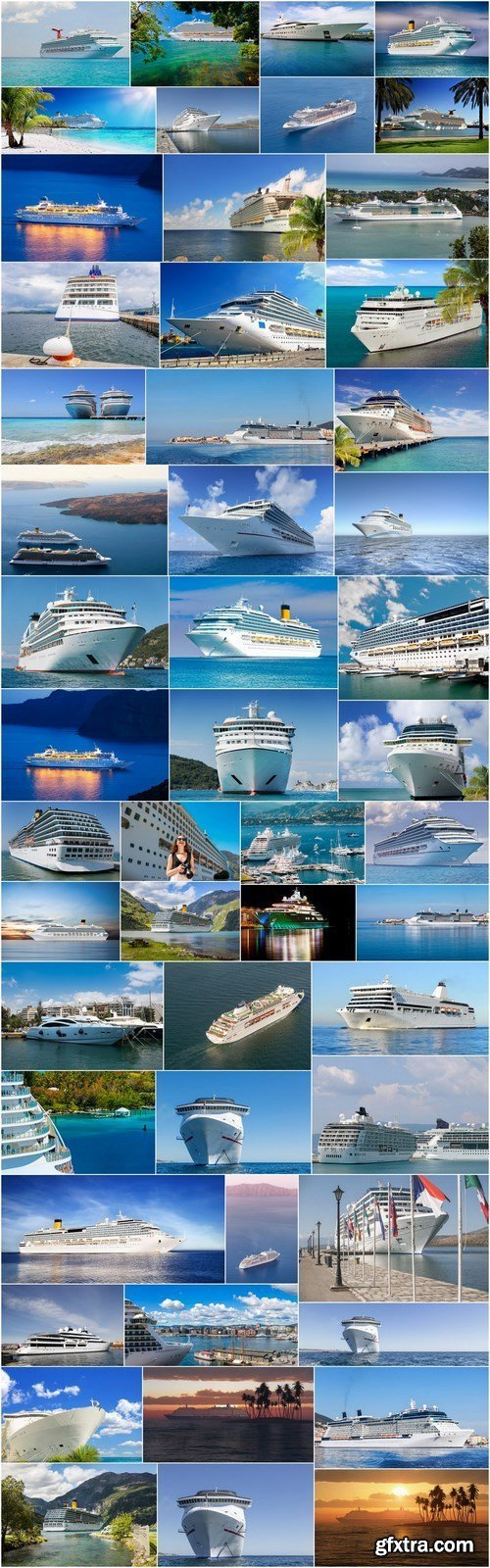 Cruise Lines - Round the World Travel - Set of 52xUHQ JPEG Professional Stock Images