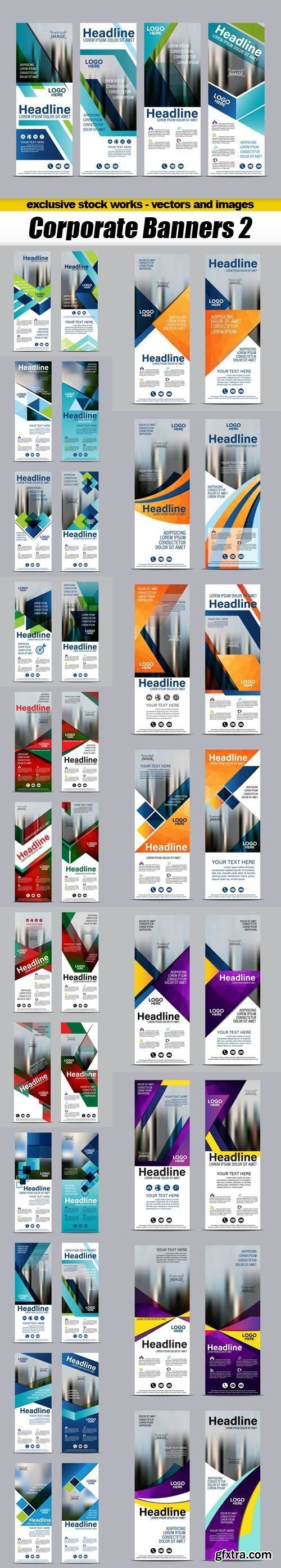 Corporate Banners 2 - 21xEPS