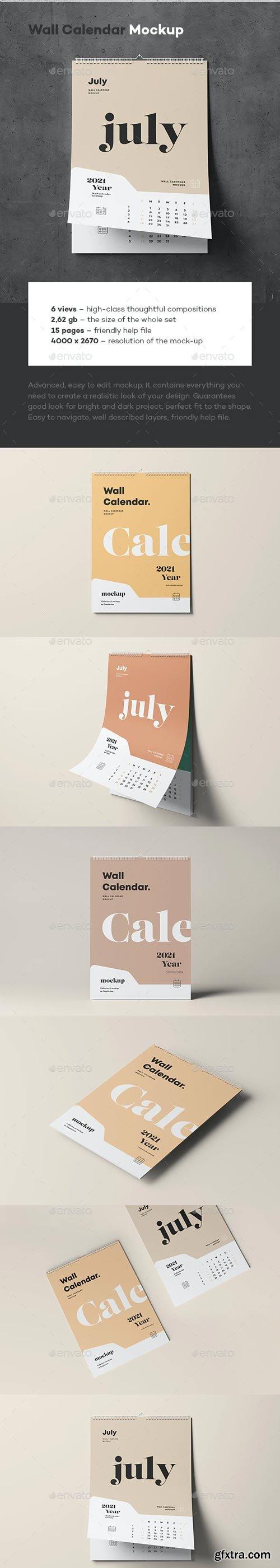 GraphicRiver - Wall Calendar Mock-up - 29436808