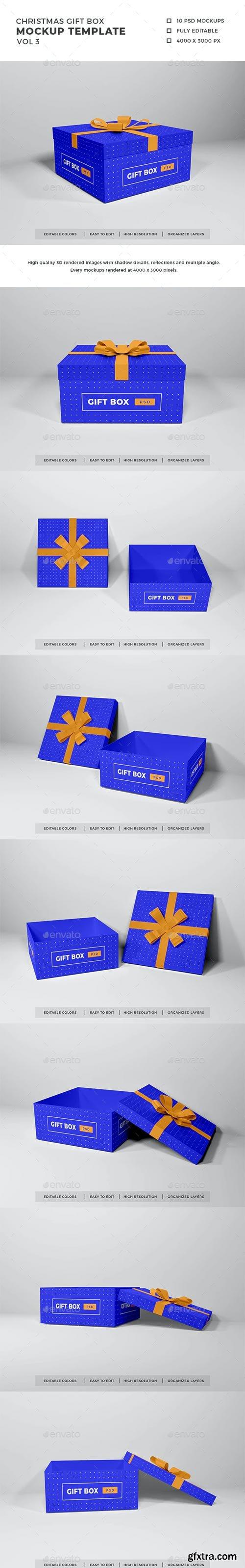 GraphicRiver - Christmas Gift Box Mockup Vol 3 - 29438437