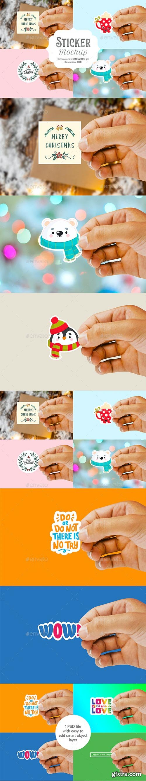 GraphicRiver - Sticker Mockup - 29472527