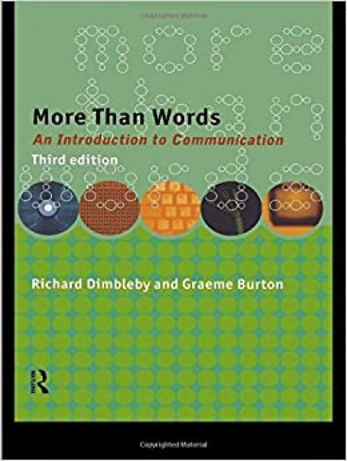 More Than Words: An Introduction to Communication