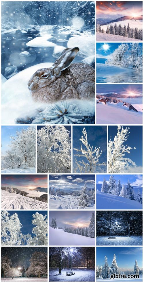 Beautiful winter scenery stock photo