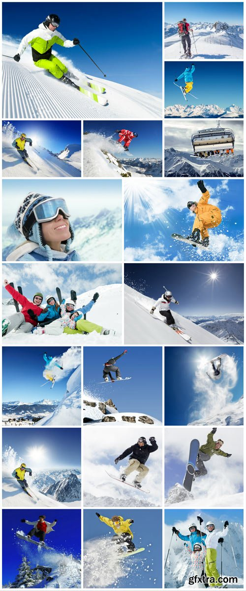 Winter vacation in the mountains stock photo №2