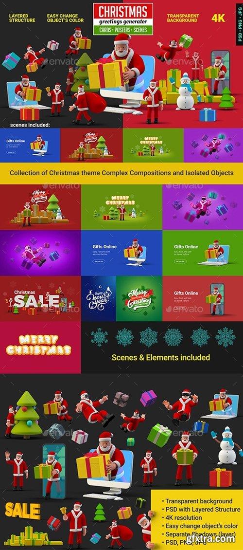 GraphicRiver - Christmas Greetings Generator 29593854