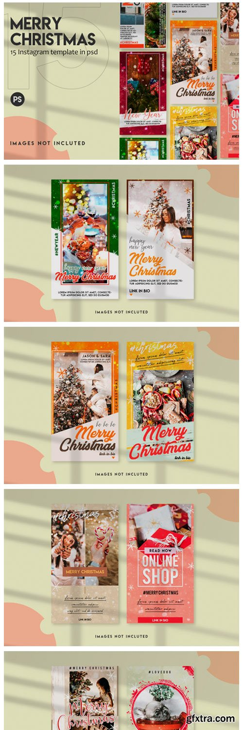 15 Christmas Instagram Stories Template 6976056