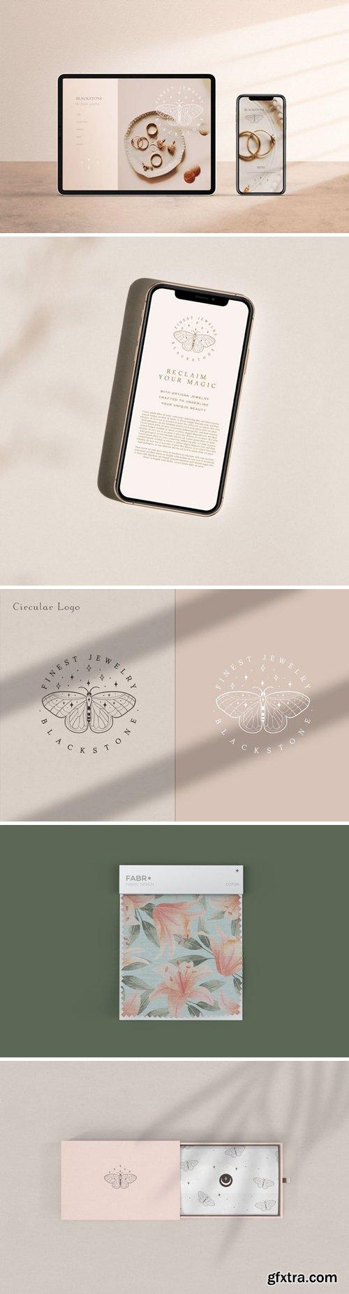 Pre-made Logo Template. Buttefly logo circle 1.