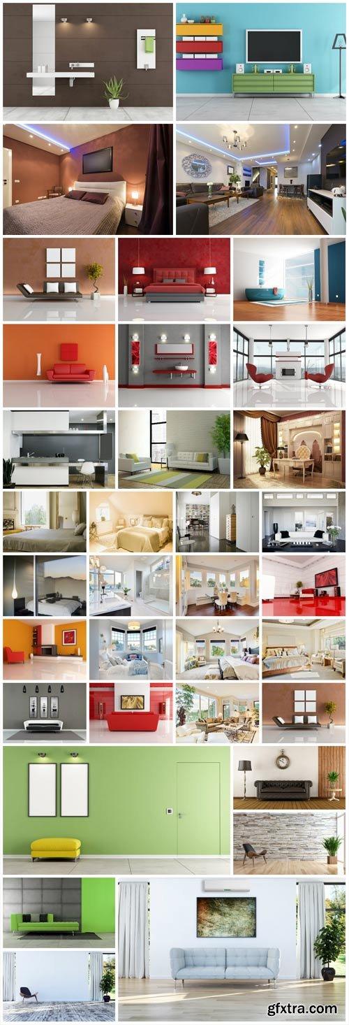 Beautiful modern interior stock photo