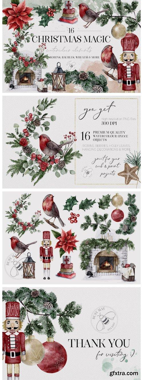 Watercolor Christmas Magic Classic 6946040