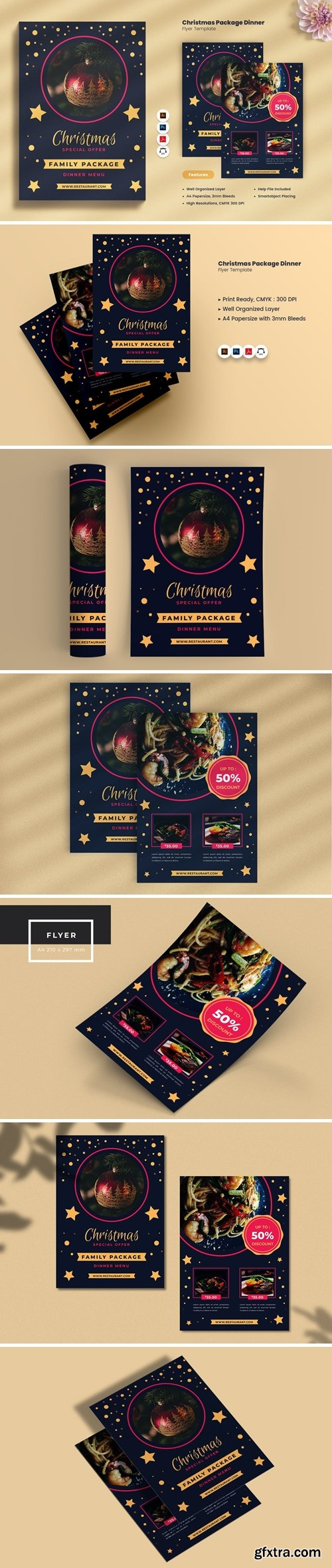 Christmas Eve Package Dinner Flyer