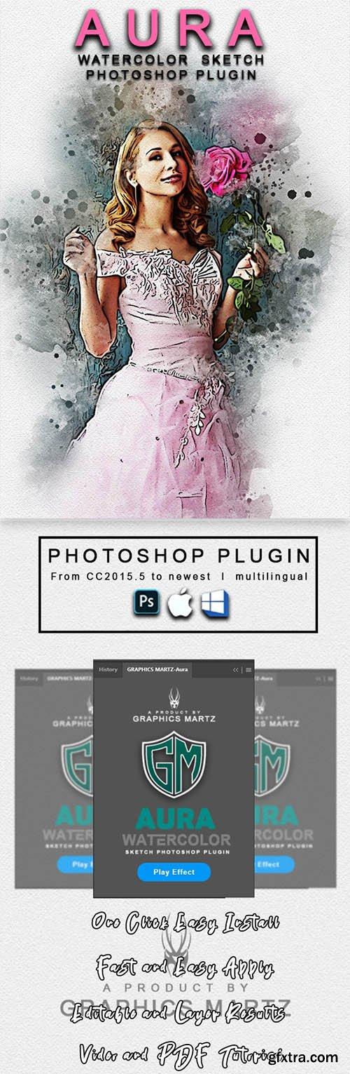 GraphicRiver - Aura Watercolor Sketch Photoshop Plugin 29472010