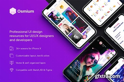 Osmium mobile UI Kit